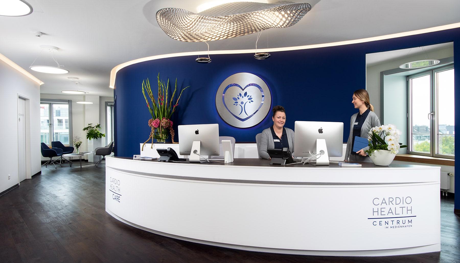 Kardiologie Düsseldorf Privatpraxis Empfangsbereich Medizinische Fachangestellte